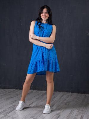 Сукня синя в горошок | 5427628