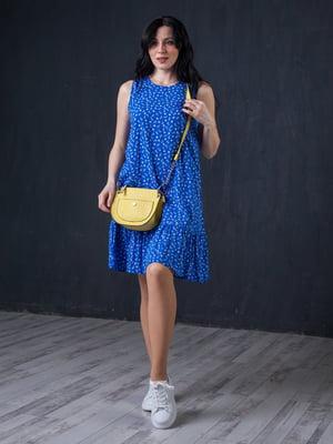 Сукня синя в принт | 5427629