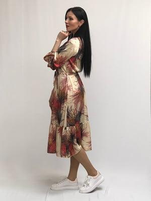 Сукня золотистого кольору в принт | 5427641