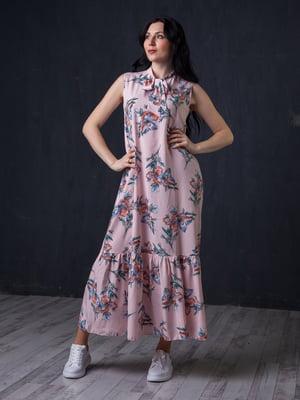 Сукня рожева в принт | 5427653
