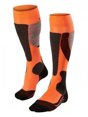 Носки лыжные черно-оранжевые | 5260364