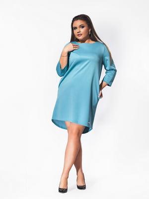 Сукня кольору аквамарин | 5430951