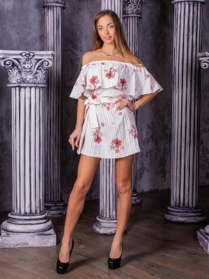 Сукня біла в квітковий принт | 5430963