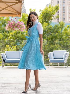 Сукня блакитна в клітинку | 5431015