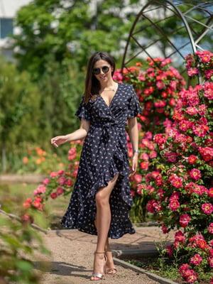 Сукня синя з принтом | 5431030