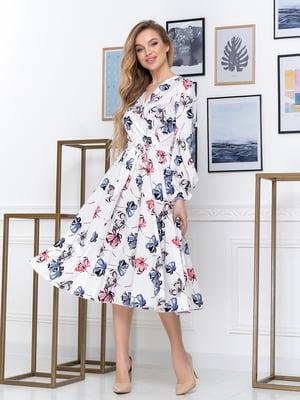 Сукня біла з принтом | 5431077