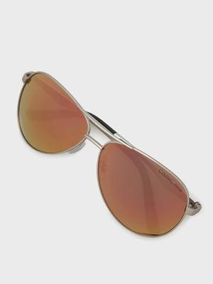Окуляри сонцезахисні сріблястого кольору   5259210