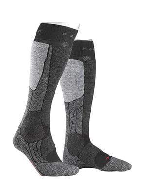 Шкарпетки лижні сіро-чорні | 5260356