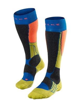 Носки лыжные комбинированной расцветки | 5260358