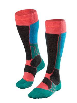 Носки лыжные комбинированной расцветки | 5260359