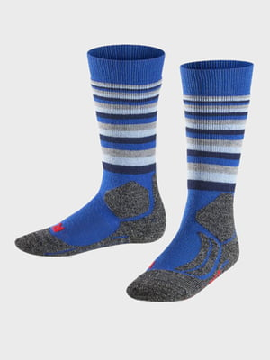 Носки лыжные серо-синие | 5260376