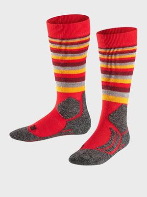 Носки лыжные красно-оранжевые | 5260377
