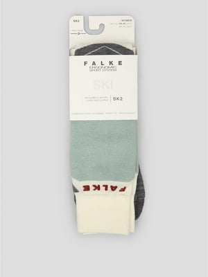 Носки лыжные серо-белые | 5260384