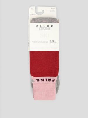 Носки лыжные серо-розовые | 5260388