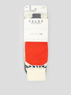Носки лыжные комбинированной расцветки | 5260412