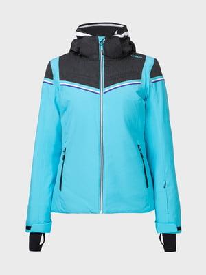 Куртка лыжная голубая | 5264463