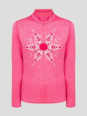 Джемпер розовый с рисунком | 5398047