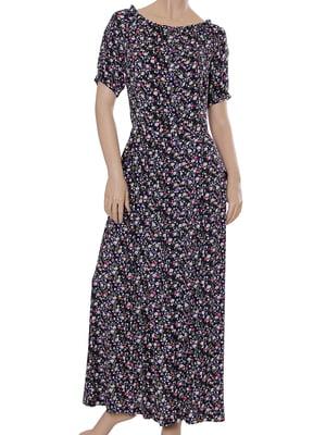 Платье черное с принтом   5431139