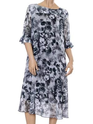Сукня сіра з квітковим принтом   5431152