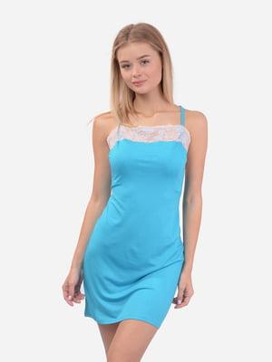 Рубашка ночная голубая | 5431189