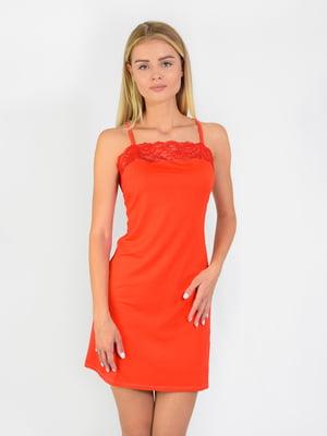 Сорочка нічна теракотового кольору | 5431194