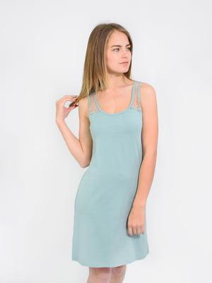 Сорочка нічна ментолового кольору | 5431196