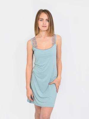 Сорочка нічна ментолового кольору | 5431199