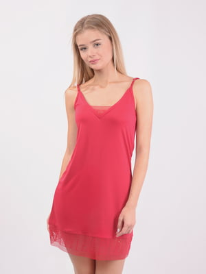 Рубашка ночная красная | 5431215