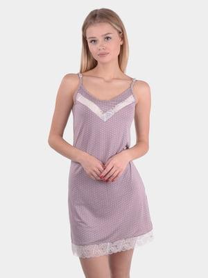 Сорочка нічна кольору мокко | 5431217