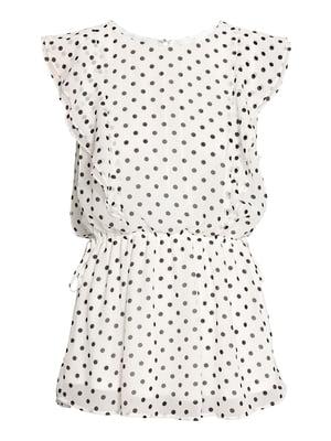 Платье белое в горошек | 5431784