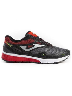 Кросівки чорно-червоні | 5433435