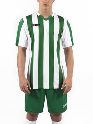 Футболка зеленая в полоску | 5433654