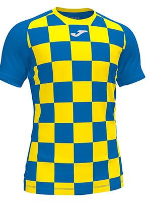 Футболка сине-желтая в клетку   5433692