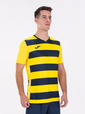 Футболка желто-синяя в полоску   5433694