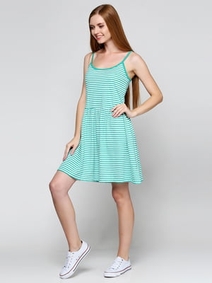 Сукня зелена в смужку | 5433939