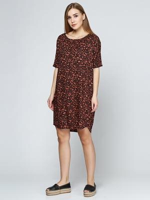 Платье черное с принтом | 5433983