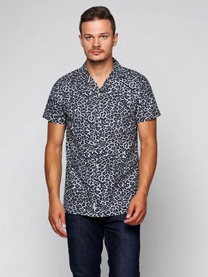 Рубашка серая с принтом   5434001