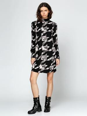 Сукня чорна з принтом | 5434013