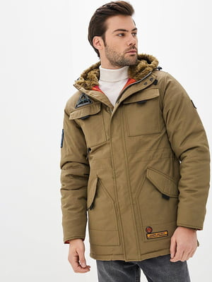Куртка оливкового цвета   5434089