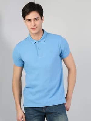 Футболка-поло голубого цвета | 5377892