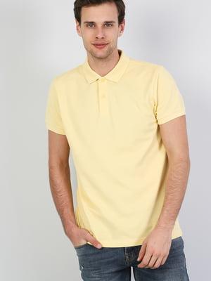 Футболка-поло желтая | 5377899