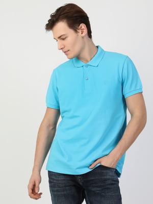 Футболка-поло голубого цвета | 5377907