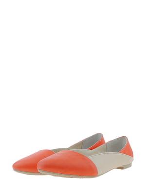 Балетки оранжево-бежевого цвета | 5425250