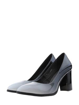 Туфли серо-черные | 5436249