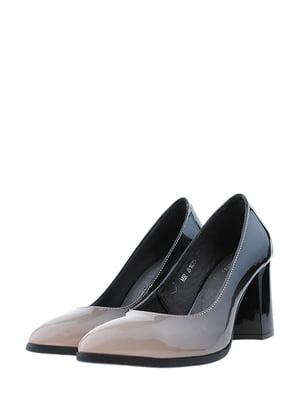 Туфли черно-кофейного цвета | 5436360