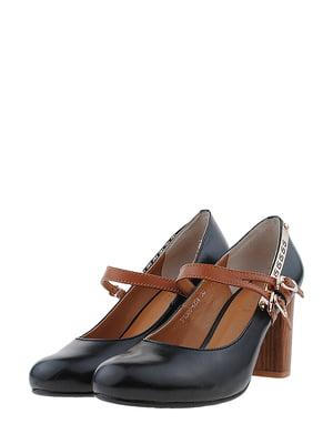 Туфлі чорно-рудого кольору | 5430740