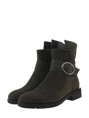 Ботинки цвета хаки   5436219