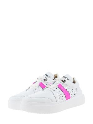 Кроссовки бело-малинового цвета | 5436344