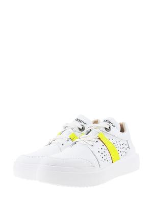 Кроссовки бело-салатового цвета | 5436345