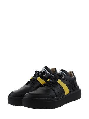 Кроссовки черно-желтые | 5436347